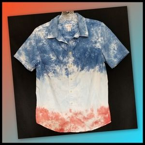 Cat & Jack*Boys Tie-Dye Button-Down Shirt